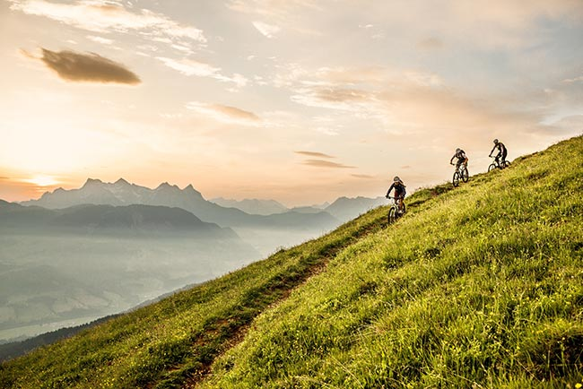 Cycling and mountain biking in the Kitzbühel Alps Hotel Rosengarten Tyrol