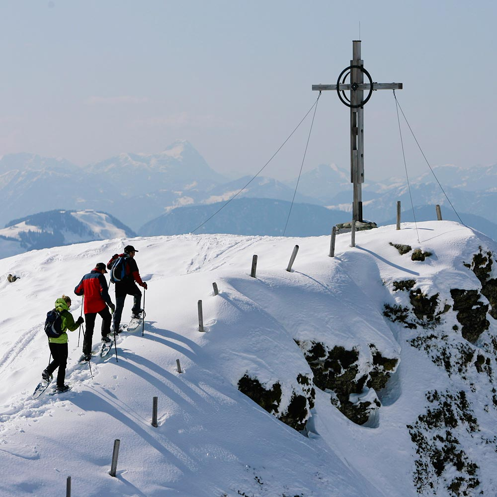 Winter hiking and snowshoeing in Kitzbühel in Austria Hotel Rosengarten