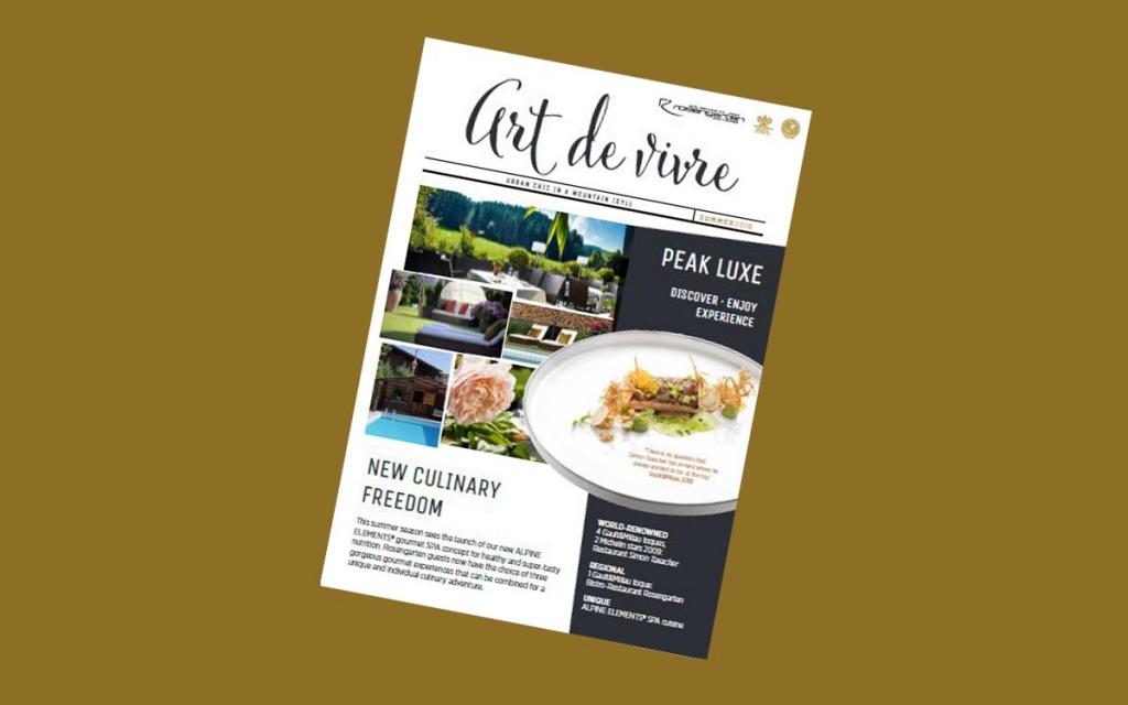 5-star Relais Chateaux Rosengarten Spa Kirchberg Kitzbuehel Tyrol Austria Art de Vivre summer magazine