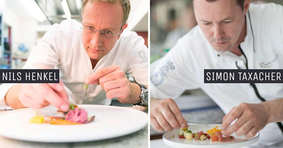Relais & Châteaux Taste of Germany Festival Simon Taxacher vom Hotel und Restaurant Rosengarten in Kirchberg in Tirol meets Nils Henkel auf Burg Schwarzenstein