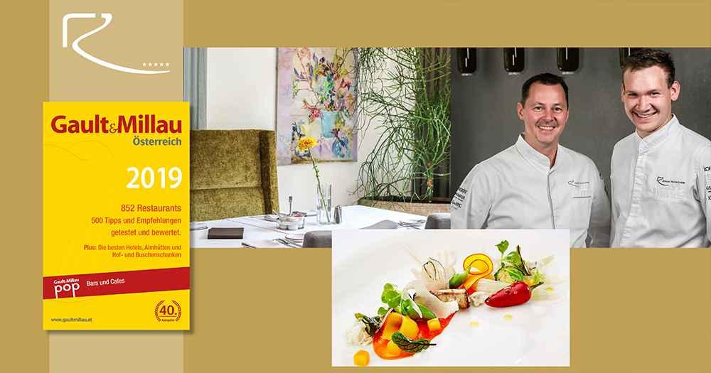 Gault&Millau 2019 Bistro-Restaurant Rosengarten Simon Taxacher and Martin Kinast 5-star Hotel Rosengarten in Kirchberg Tyrol