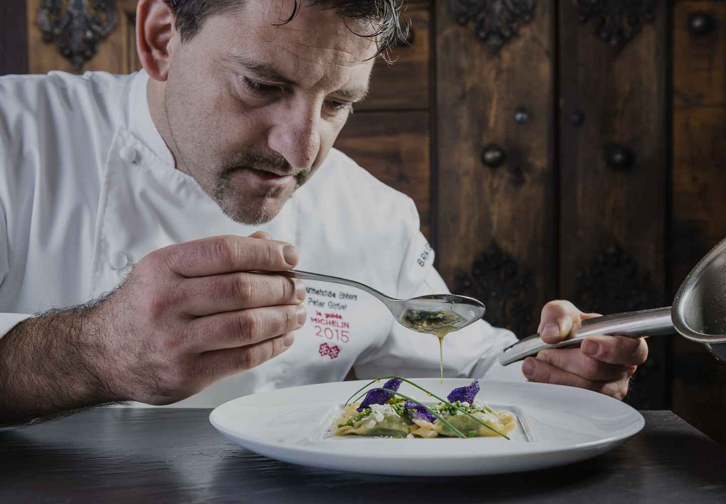 A culinary duet of North and South Tyrol by Peter Girtler and Simon Taxacher at the 5-star gourmet Hotel Rosengarten Tyrol Austria