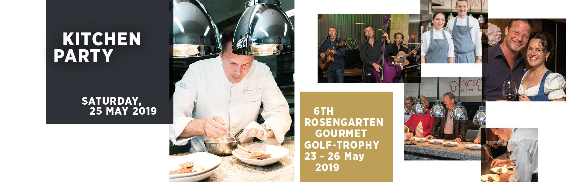 Gourmet Golf Trophy 5 star hotel Rosengarten Kirchberg Tyrol Austria kitchen party