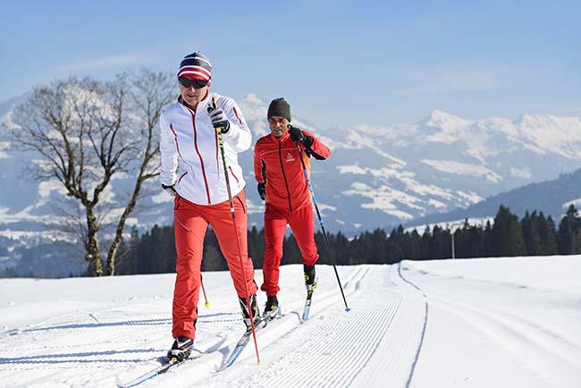 Cross-country skiing in Kitzbühel 5-star Hotel Rosengarten