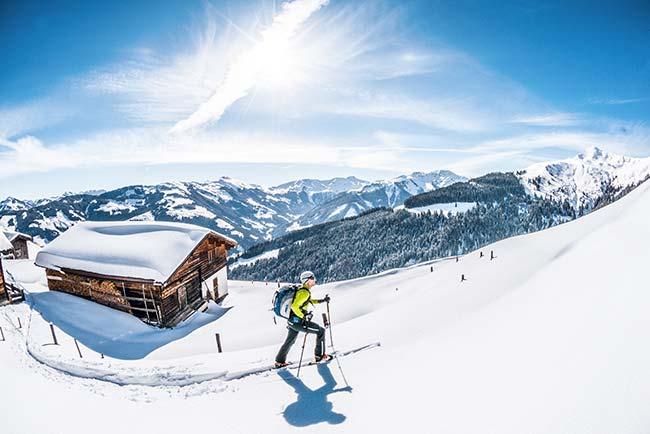 Ski touring in Kitzbühel Hotel Restaurant SPA Rosengarten Tyrol Austria